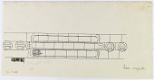 """view D-231: Damascus. End of entablature for inscription with date 722 H. Marked """"unpublished"""" digital asset: Damascus (Syria): End of Entablature for Inscription with Date 722 H [drawing]"""
