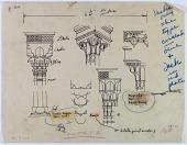 view Assur (Iraq), Mosul (Iraq), Baghdad (Iraq): wooden capitals, 1904 [drawing] digital asset number 1
