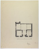 """view D-257: Damascus. Plan. Marked """"unpublished"""" digital asset: Damascus (Syria): Unidentified Building: Ground Plan Including Location of Minaret and Arabic Inscription [drawing]"""