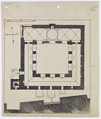 view Citadel of Aleppo (Syria): Great Mosque (Upper Maqām Ibrāhīm): Ground Plan [drawing] digital asset number 1