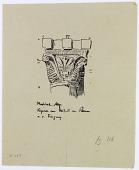 view Aleppo (Syria): Mashhad al-Husayn, Mihrab: Sketch of Roman Style Capital [drawing] digital asset number 1