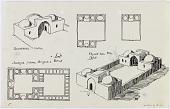 view D-341: Khunik (Iran), Dawlatabad (Iran), Dastgird (Iran): Rustic Houses of Sun-Dried Bricks digital asset: Khunik (Iran), Dawlatabad (Iran), Dastgird (Iran): Rustic Houses of Sun-Dried Bricks, [drawing]