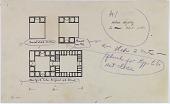 view D-342: Sistan, Nih, Dastgird. Plan of houses.SA-II, fig.7 digital asset: Khunik (Iran), Dawlatabad (Iran), Dastgird (Iran): Rustic Houses of Sun-Dried Brick, [drawing]