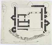 view D-343: Kūh-i Kirwāja, fort.SA-II, fig.4 digital asset: Excavation of Kuh-e Khwaja (Iran): Ruins of Fort: Ground Plan [drawing]