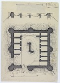 view Farrashband Valley (Iran): Remains of a Fort: Ground Plan and Elevation, 1924 [drawing] digital asset number 1