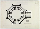 view Dehbid (Iran), Khan-i Khurra: Ground Plan, 1923 [drawing] digital asset number 1