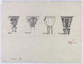 view Taq-i Bustan (Iran), Sabzawar (Iran), Qum (Iran), and Karbala (Iraq): Four Examples of Column Capitals [drawing] digital asset number 1