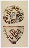 view Excavation of Persepolis (Iran): Reconstruction of Pottery with Painted Patterns: Side and Interior of Bowl, from Prehistoric Mound of Tal-i Bakun (PPA) [drawing] digital asset number 1