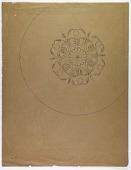 view Luristan (Iran): Engraved Floral Ornamentation on Bronze Vessel [drawing] digital asset number 1