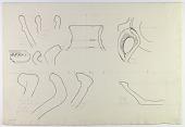 view Khurha, Daulatabad and Shahriyar (Iran): Reconstruction of Prehistoric Pottery: Profiles of Rims and Handles [drawing] digital asset number 1