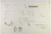 view Khurha, Tepe Maringan and Husainabad (Iran): Reconstruction of Prehistoric Pottery: Profiles of Rims and Handles [drawing] digital asset number 1