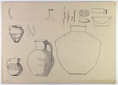 view Khurramabad and Demavand (Iran): Reconstruction of Prehistoric Pottery and Bronze Vessels [drawing] digital asset number 1