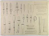 view D-678: Vicinity of Nihavand (Iran): Reconstruction of Bronze Weapons, from Prehistoric Mound of Tepe Giyan digital asset: Vicinity of Nihavand (Iran): Reconstruction of Bronze Weapons, from Prehistoric Mound of Tepe Giyan [drawing]