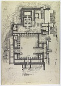 """view D-693: Excavation of Kuh-e Khwaja (Iran): Ruins of Ghaga-Shahr: General Plan of """"Palace-Temple"""" Complex, Annotated by Herzfeld digital asset: Excavation of Kuh-e Khwaja (Iran): Ruins of Ghaga-Shahr: General Plan of """"Palace-Temple"""" Complex, Annotated by Herzfeld [drawing]"""