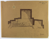view D-717: Taq-i Bustan (Iran): Group of Small Grottoes Shaped Like a Roman Triple Gate: Ground Plan digital asset: Taq-i Bustan (Iran): Group of Small Grottoes Shaped Like a Roman Triple Gate: Ground Plan [drawing]