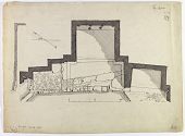 view D-717a: Taq-i Bustan (Iran): Group of Small Grottoes Shaped Like a Roman Triple Gate: Ground Plan digital asset: Taq-i Bustan (Iran): Group of Small Grottoes Shaped Like a Roman Triple Gate: Ground Plan [drawing]