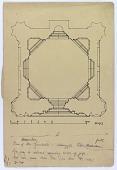 view D-0719: Hamadan (Iran): Gunbad-i Alaywian: Ground Plan of the Mausoleum digital asset: Hamadan (Iran): Gunbad-i Alaywian: Ground Plan of the Mausoleum, [drawing]