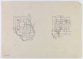 view D-729: Sistan (Iran): Two Fire Temples in Shahristan: Ground Plans digital asset: Sistan (Iran): Two Fire Temples in Shahristan: Ground Plans [drawing]