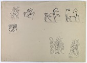 view Animal and Human Figures from Coins [drawing] digital asset number 1