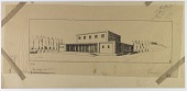 view D-799: Excavation of Pasargadae (Iran): Palace 'S': Reconstructed View, drawn by Friedrich Krefter digital asset: Excavation of Pasargadae (Iran): Palace 'S': Reconstructed View, drawn by Friedrich Krefter, [drawing]