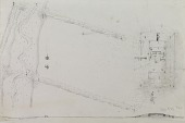 view D-800: Excavation of Pasargadae (Iran): Measured Plan of Area with Altars and Temple, probably drawn by Friedrich Krefter digital asset: Excavation of Pasargadae (Iran): Measured Plan of Area with Altars and Temple, probably drawn by Friedrich Krefter, [drawing]