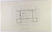 view Excavation of Pasargadae (Iran): Palace 'S': Preluminary Ground Plan with Handwritten Annotations [drawing] digital asset number 1