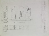 view D-812: Excavation of Pasargadae (Iran): Palace 'S', Pier 2: Elevation and Ground Plan,probably drawn by Friedrich Krefter digital asset: Excavation of Pasargadae (Iran): Palace 'S', Pier 2: Elevation and Ground Plan,probably drawn by Friedrich Krefter, [drawing]