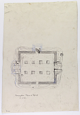 view D-821: Excavation of Pasargadae (Iran): Gate R (Gate House, Palace with the Relief): Ground Plan of Ruins digital asset: Excavation of Pasargadae (Iran): Gate R (Gate House, Palace with the Relief): Ground Plan of Ruins [drawing]
