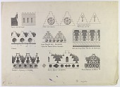view Examples of Crenellations: Parthian, Sassanian, Muslim [drawing] digital asset number 1