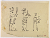 view D-902a: Takht-i Kuwad (Iran): Human Figures of Worshippers Depicted on Gold Plate, from the Oxus Treasure in the British Museum digital asset: Takht-i Kuwad (Iran): Human Figures of Worshippers Depicted on Gold Plate, from the Oxus Treasure in the British Museum [drawing]