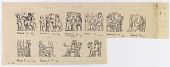 view D-958a: Devices on Arsacid Coins Depicting Investiture of Kings digital asset: Devices on Arsacid Coins Depicting Investiture of Kings [drawing]