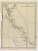 view Archaeological Expedition for the Survey of the Euphrates and Tigris Valleys: Itinerary Annotated on Map of Region Between Khabur (Syria) and Albu Kamal (Syria) digital asset number 1