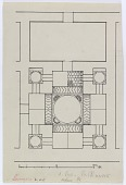 view D-1027: Excavation of Samarra (Iraq): Balkuwara Palace, Bath: Ground Plan digital asset: Excavation of Samarra (Iraq): Balkuwara Palace, Bath: Ground Plan [drawing]