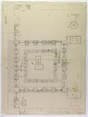 view D-1062: Excavation of Samarra (Iraq): Shiite Shrine Complex, Shrine of Imam al-Hadi: Sketch Plan and Arabic Annotations digital asset: Excavation of Samarra (Iraq): Shiite Shrine Complex, Shrine of Imam al-Hadi: Sketch Plan and Arabic Annotations [drawing]