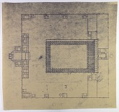 view Excavation of Samarra (Iraq): Congregational Mosque of Madinat al-Mutawakkiliyya (Abu Dulaf Mosque): Ground Plan of the Mosque and Ziyada [drawing] digital asset number 1
