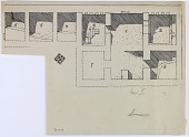 view D-1119: Excavation of Samarra (Iraq): al-Quraina, House I: Ground Plan Including Series of Rooms in the East-West Orientation digital asset: Excavation of Samarra (Iraq): al-Quraina, House I: Ground Plan Including Series of Rooms in the East-West Orientation [drawing]