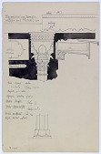 view Mosul (Iraq): Reconstruction of Wooden Capitals and Column Base, 1904 [drawing] digital asset number 1