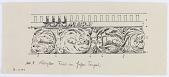 view D-1147: Korykos. Frieze of great temple digital asset: Korykos (Turkey): Roman Corinthian Temple: Detail of a Frieze [drawing]