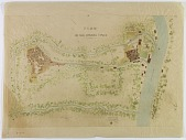view Bassorah and Achar (Iraq): Watercolor Plan of the Two Cities and Surroundings, 1905 digital asset number 1