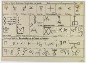view D-1181: Persepolis, mason's marks digital asset: Excavation of Pasargadae (Iran) and Persepolis (Iran): Stone Mason's Marks, drawn by Friedrich Krefter [drawing]