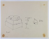 view D-1186: Pasargadae. Palace S. Column base digital asset: Excavation of Pasargadae (Iran): Palace 'S': Detail of Rounded Torus on Double Plinth Base [drawing]