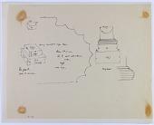 view D-1196: Pasargadae. Palace P. Column base digital asset: Excavation of Pasargadae (Iran): Palace 'P' (Palace with the Anta): Horizontally Fluted Torus on Double Plinth Base [drawing]
