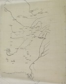 view Map Tracing of Region Comprising Eastern Iran and Afghanistan, drawn by Ernst Herzfeld digital asset number 1