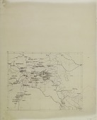 view Map Tracing Including several Expedition Itineraries throughout Middle East and Near Eastern East Asia, drawn by Ernst Herzfeld digital asset number 1