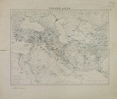 view Map of Near Eastern Asia, Annotated by Ernst Herzfeld with Expeditions Itineraries of Jacques de Morgan and Henry Rawlinson digital asset number 1
