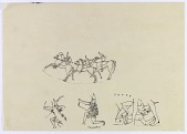 view Human Figures with Bows [drawing] digital asset number 1