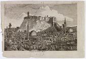 view D-1347: Citadel of Aleppo (Syria): Citadel Rising from a Round Hill digital asset: Citadel of Aleppo (Syria): Citadel Rising from a Round Hill [etching]