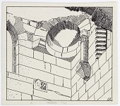 view Rusafa (Syria): St. Sergios Basilica, North Side of Tower [drawing] digital asset number 1