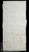 view SQ 118: Naqsh-i Rustam, Great lower inscription. 77--1. digital asset: Naqsh-i Rustam (Iran): Squeeze of Inscription, DNb, Old Persian Version, on the Tomb of Darius I