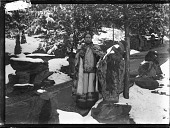 view The Empress Dowager Cixi in a snow-covered garden digital asset: The Empress Dowager Cixi in a snow-covered garden